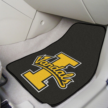 University of Idaho Black Carpet Car Mat, Set of 2