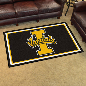 4' x 6' University of Idaho Black Rectangle Rug