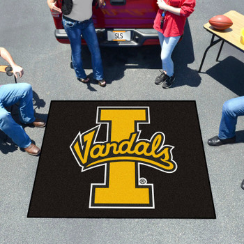 "59.5"" x 71"" University of Idaho Black Tailgater Mat"