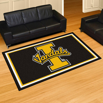 5' x 8' University of Idaho Black Rectangle Rug