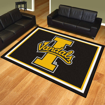 8' x 10' University of Idaho Black Rectangle Rug