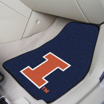 University of Illinois Blue Carpet Car Mat, Set of 2