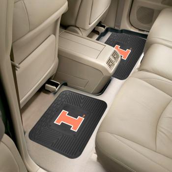 University of Illinois Heavy Duty Vinyl Car Utility Mats, Set of 2