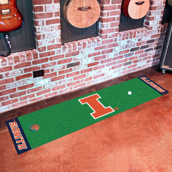 "18"" x 72"" University of Illinois Putting Green Runner Mat"