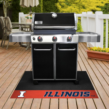 "26"" x 42"" University of Illinois Grill Mat"