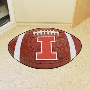 "20.5"" x 32.5"" University of Illinois Football Shape Mat"