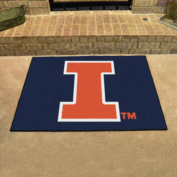 "33.75"" x 42.5"" University of Illinois All Star Blue Rectangle Mat"