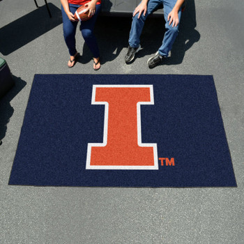 "59.5"" x 94.5"" University of Illinois Blue Rectangle Ulti Mat"