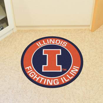 """27"""" University of Illinois Roundel Round Mat"""