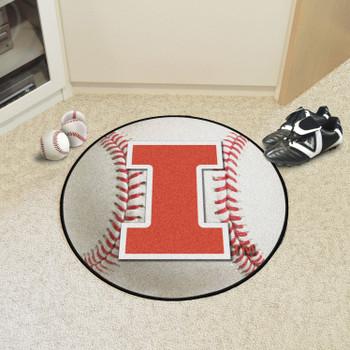 "27"" University of Illinois Baseball Style Round Mat"
