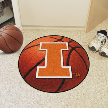 "27"" University of Illinois Basketball Style Round Mat"