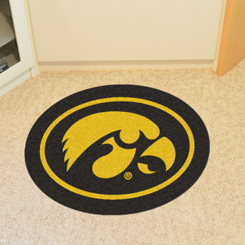 "University of Iowa Mascot Mat - ""Hawkeye"" Logo"