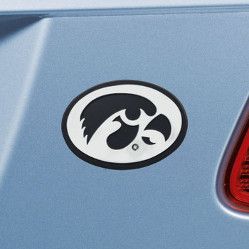 University of Iowa Chrome Emblem, Set of 2