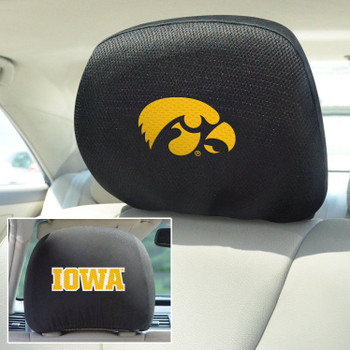 University of Iowa Car Headrest Cover, Set of 2