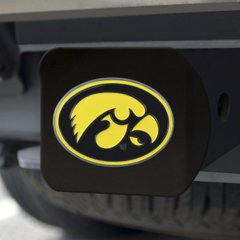 University of Iowa Hitch Cover - Color on Black