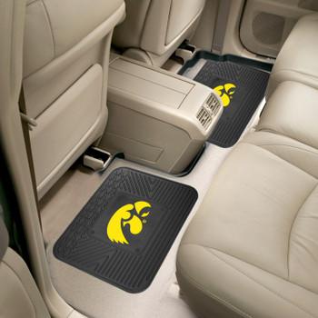 University of Iowa Heavy Duty Vinyl Car Utility Mats, Set of 2