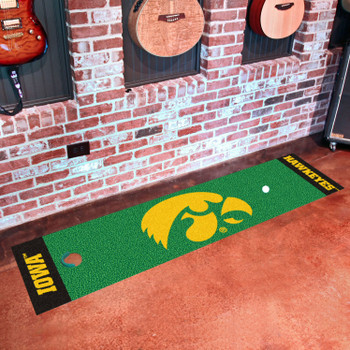 "18"" x 72"" University of Iowa Putting Green Runner Mat"