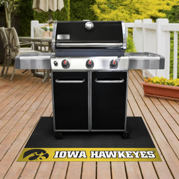 "26"" x 42"" University of Iowa Grill Mat"