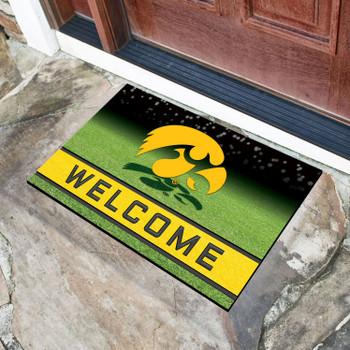 """18"""" x 30"""" University of Iowa Crumb Rubber Door Mat"""