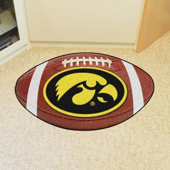 """20.5"""" x 32.5"""" University of Iowa Football Shape Mat"""