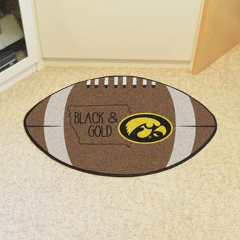 """20.5"""" x 32.5"""" University of Iowa Southern Style Football Shape Mat"""