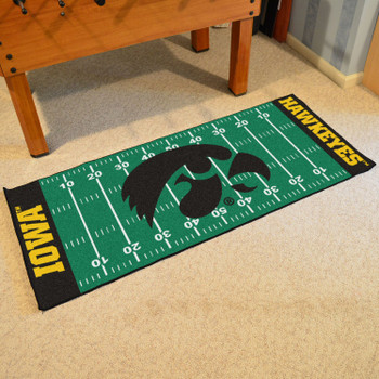 "30"" x 72"" University of Iowa Football Field Rectangle Runner Mat"