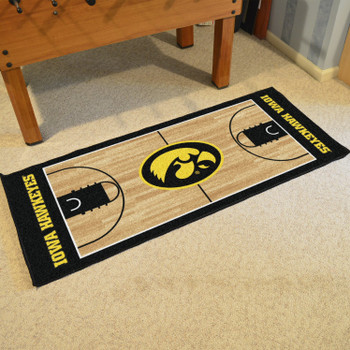 "30"" x 72"" University of Iowa NCAA Basketball Rectangle Runner Mat"