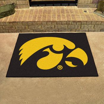 "33.75"" x 42.5"" University of Iowa All Star Black Rectangle Mat"