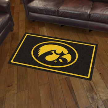 3' x 5' University of Iowa Black Rectangle Rug