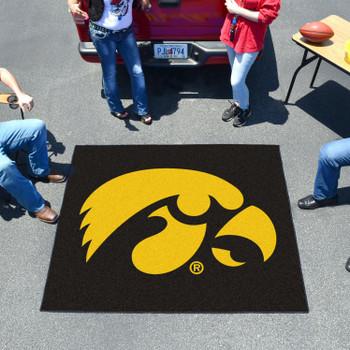 """59.5"""" x 71"""" University of Iowa Black Tailgater Mat"""