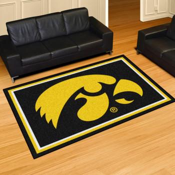 5' x 8' University of Iowa Black Rectangle Rug