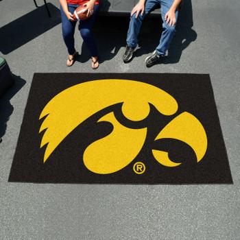"59.5"" x 94.5"" University of Iowa Black Rectangle Ulti Mat"