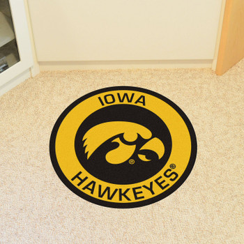 "27"" University of Iowa Roundel Round Mat"