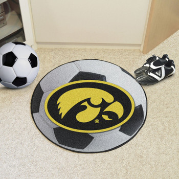 """27"""" University of Iowa Soccer Ball Round Mat"""