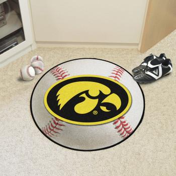 "27"" University of Iowa Baseball Style Round Mat"