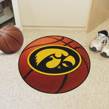 """27"""" University of Iowa Basketball Style Round Mat"""
