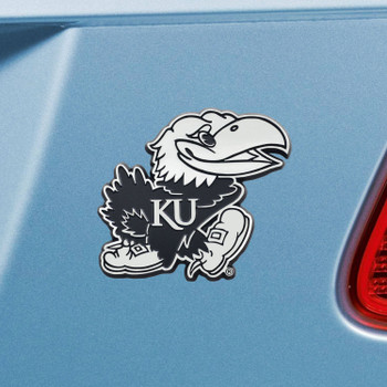 University of Kansas Chrome Emblem, Set of 2