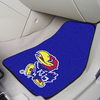 University of Kansas Blue Carpet Car Mat, Set of 2