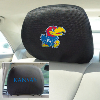 University of Kansas Car Headrest Cover, Set of 2