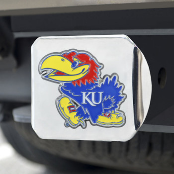 University of Kansas Color Hitch Cover - Chrome