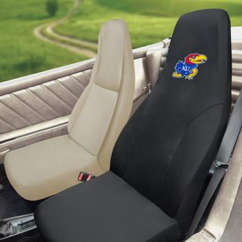 """University of Kansas Car Seat Cover - """"KU Bird"""" Logo"""