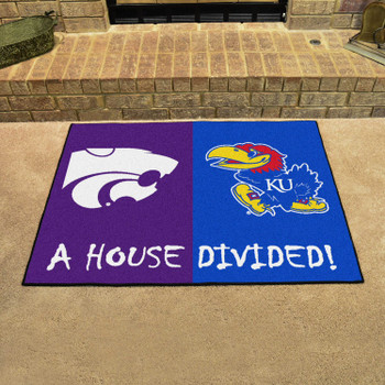 "33.75"" x 42.5"" Kansas / Kansas State House Divided Rectangle Mat"