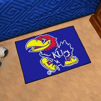 "19"" x 30"" University of Kansas Blue Rectangle Starter Mat"