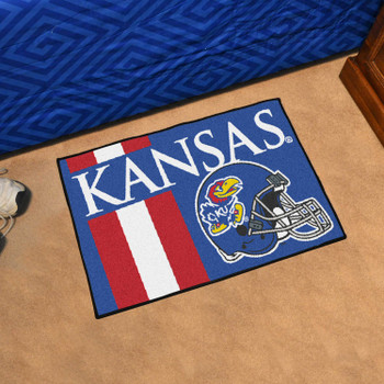"19"" x 30"" University of Kansas Uniform Blue Rectangle Starter Mat"