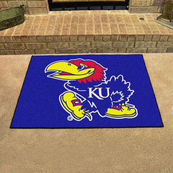 "33.75"" x 42.5"" University of Kansas All Star Blue Rectangle Mat"