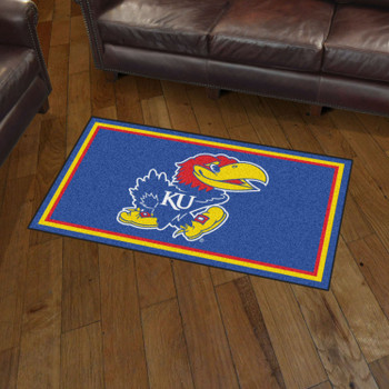 3' x 5' University of Kansas Blue Rectangle Rug