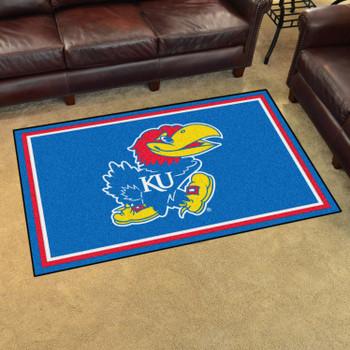 4' x 6' University of Kansas Blue Rectangle Rug