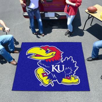 "59.5"" x 71"" University of Kansas Blue Tailgater Mat"