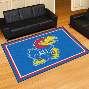 5' x 8' University of Kansas Blue Rectangle Rug
