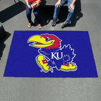 "59.5"" x 94.5"" University of Kansas Blue Rectangle Ulti Mat"